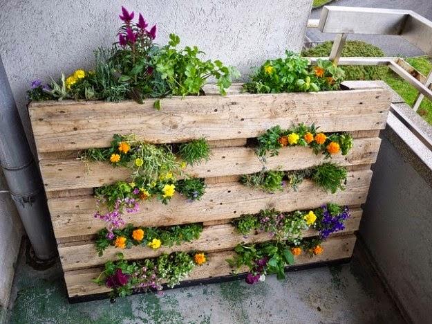 Fioriera pallet, flowerpot