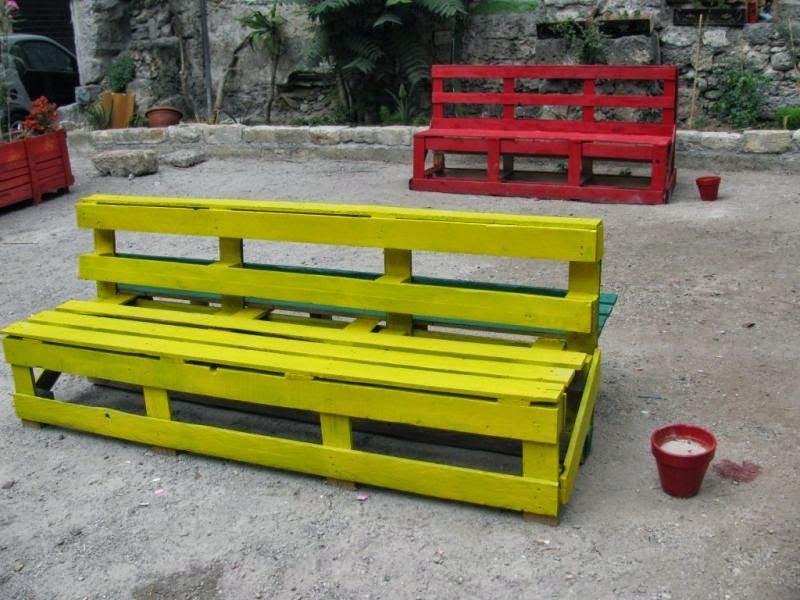 Panchine da giardino pallet bench