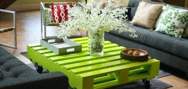 Tavolino sala pallet table