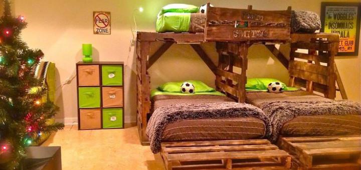 Famoso Letto a castello per bambini realizzato con pallet, bed | Idee Pallet EU59