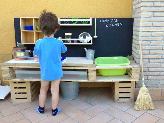 realizzare una cucina da giocare per i bambini con i pallet | idee ... - Gioco Da Cucinare
