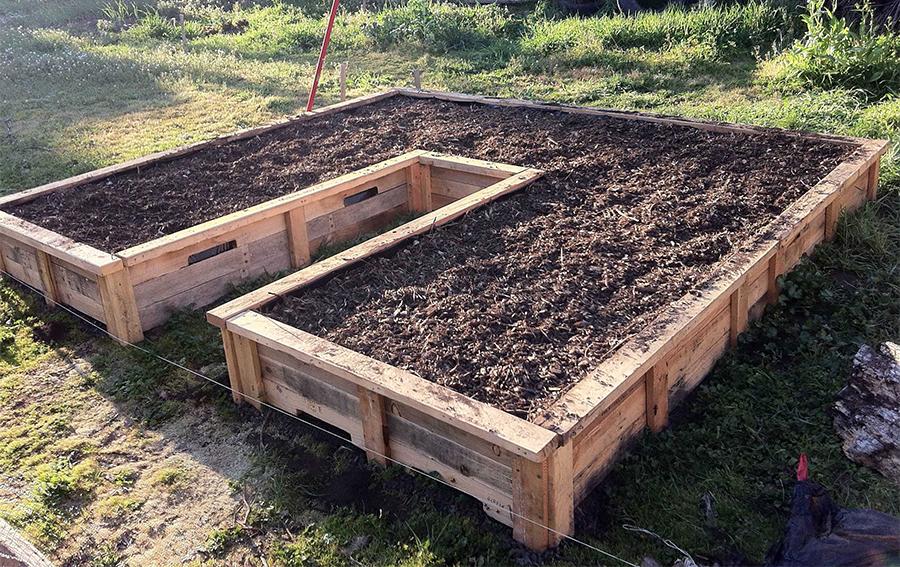 Pallet giardino, fioriere per orto